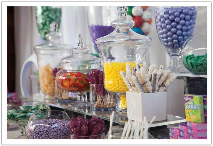 80s Candy Bar!   Modern Luxe La Jolla  Wedding by Alchemy Fine Events: The ultimate dessert bar! www.alchemyfineevents.com