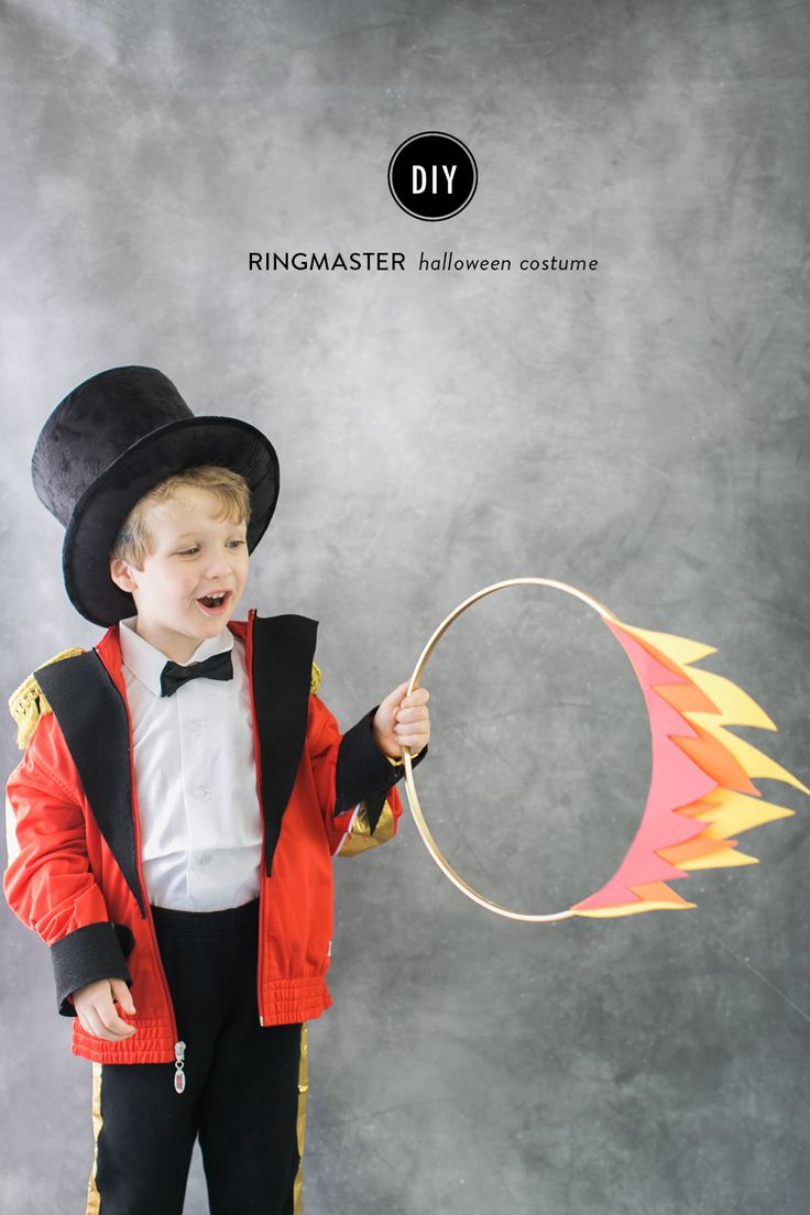 In terms of Halloween costumes, this circus trio is bringing its A-game. First we had the fierce (read, adorable)�circus lion and now the gold epaulettes adorned ringmaster. It's a super simple DIY made...