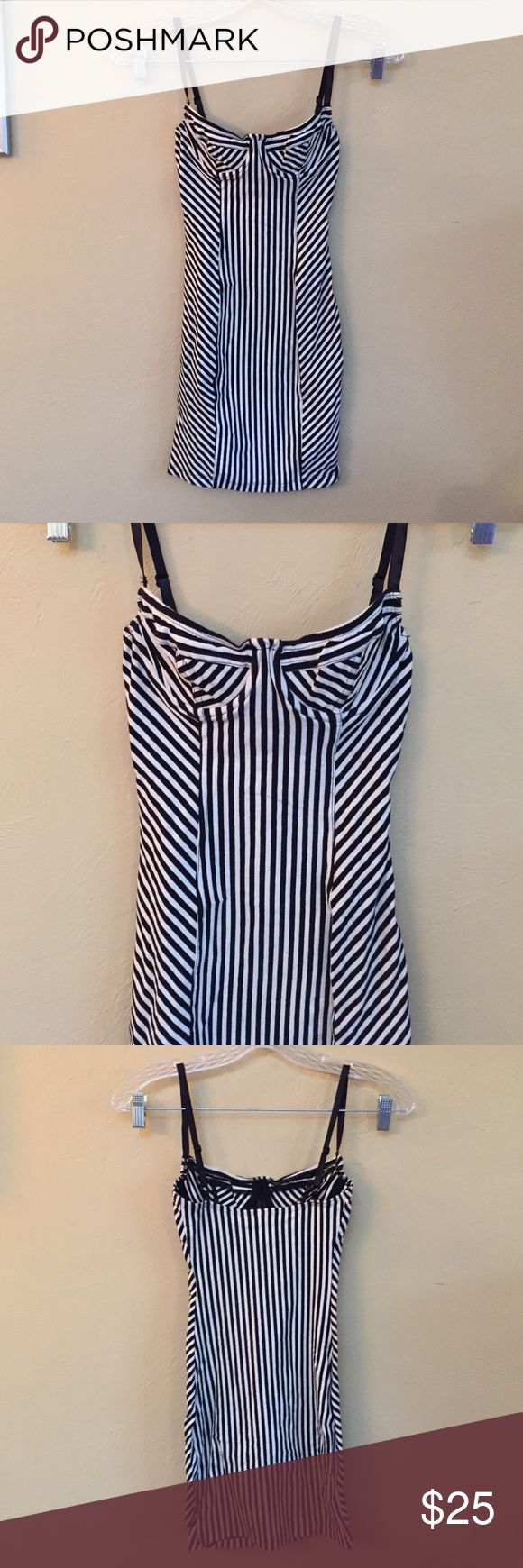 American apparel stripe bodycon dress XS. Good condition. American Apparel Dresses Mini