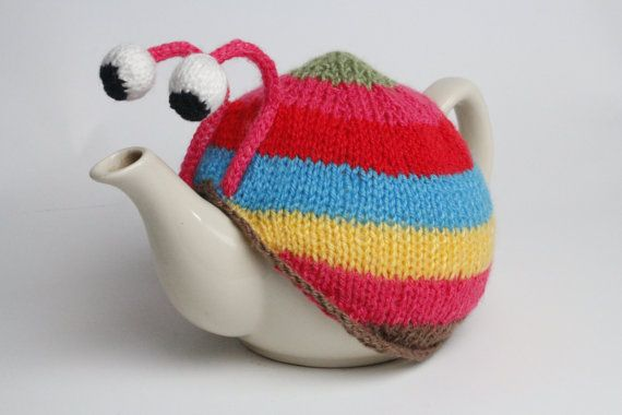 Hey, I found this really awesome Etsy listing at https://www.etsy.com/listing/183797970/knitted-stripy-snail-tea-cosy-in-pink-or