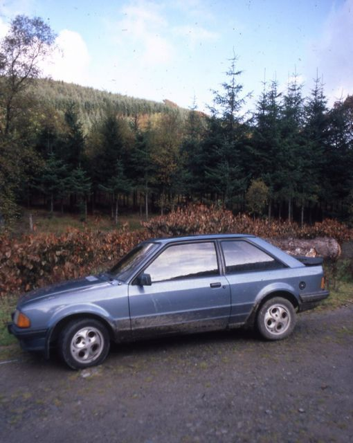 Ford XR3 in mid-Wales, 1983