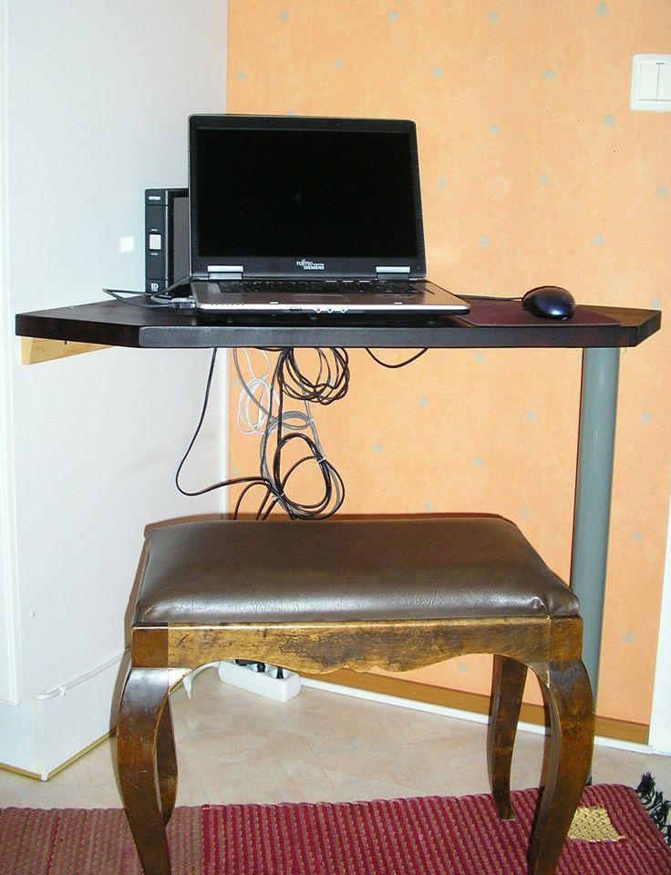 Pienen nurkan hyötykäyttö tietokonepisteenä.
