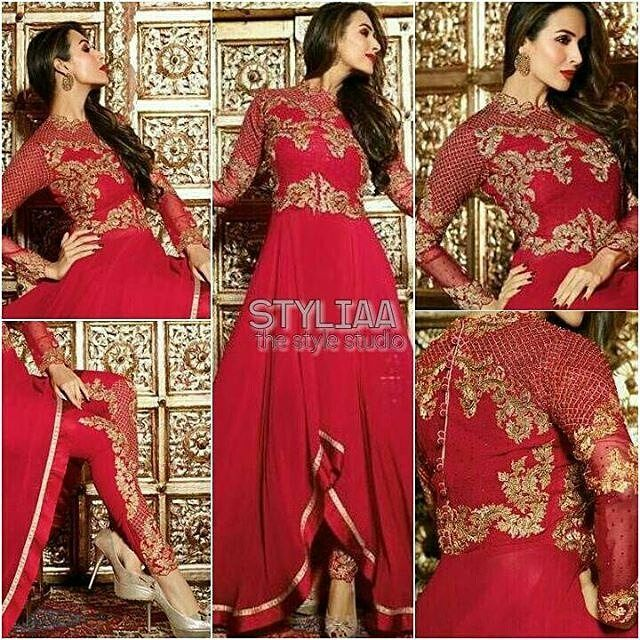 #MaliakaArorakhan : Launching exclusively an exquisite Star collection for Eid 2016. #BuyOriginal #TrustedWorldwide #BOOKINGS: 919978600029  www.styliaa.com INR  4200 (including shipping in india)  USD $ 88(including shipping to USA) GBP  57(including shipping to UK). Customized Stitching rates (20$/14) #styliaa #musthave #indian #anarkali #f4f #usa #canada #singapore #australia #indianwardrobe #indianfashion #worldwide #love #hongkong #southafrica #asians #salwarkameez #saree #RepostIt_app…