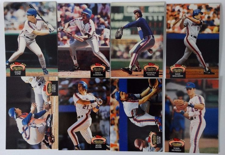 1992 Topps Stadium Club Series 1 New York Mets Team Set 8 Baseball Cards #topps #NewYorkMets