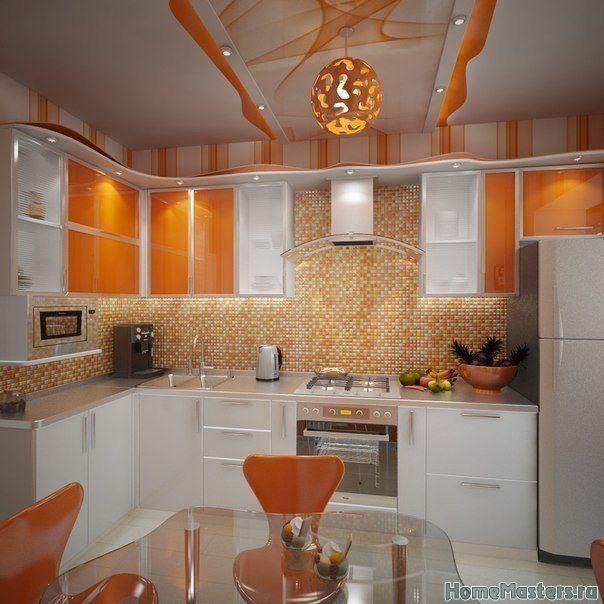 Оранжевая кухня | Дизайн интерьера кухни | Фотогалерея ремонта и дизайна | Школа ремонта. Ремонт своими руками