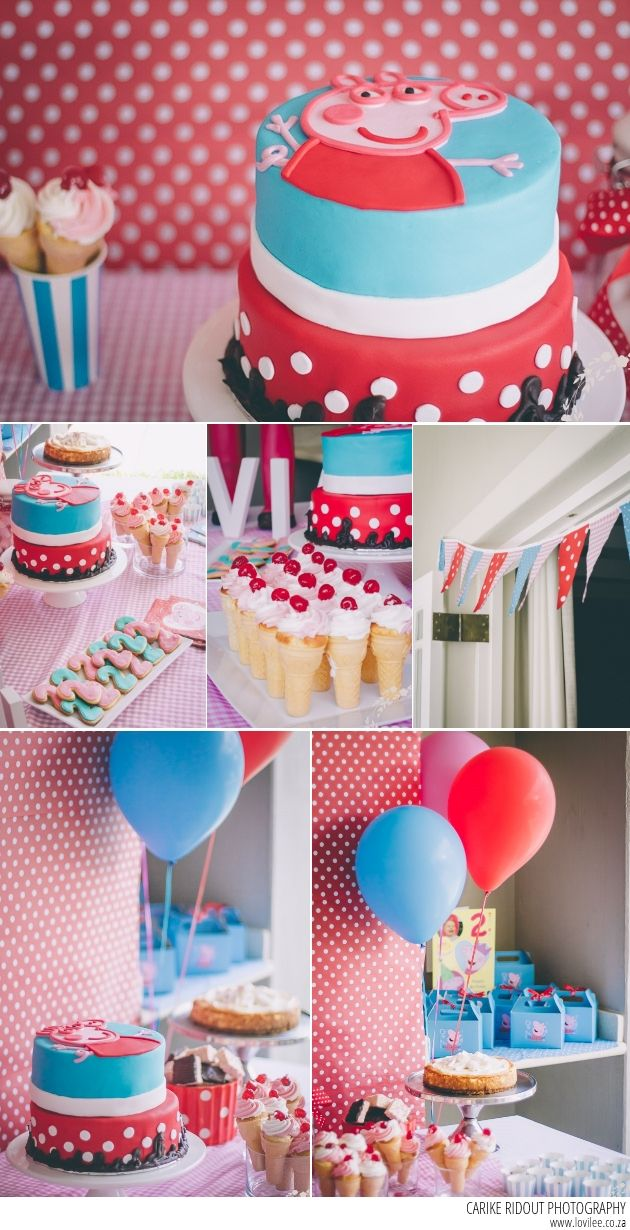 Peppa Pig birthday party photographed by carike Ridout on Lovilee: http://www.lovilee.co.za/2014/peppa-pig-birthday-party/