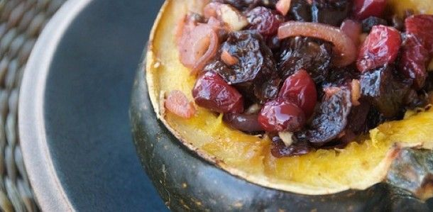 Yummy Sweet Stuffed Acorn Squash