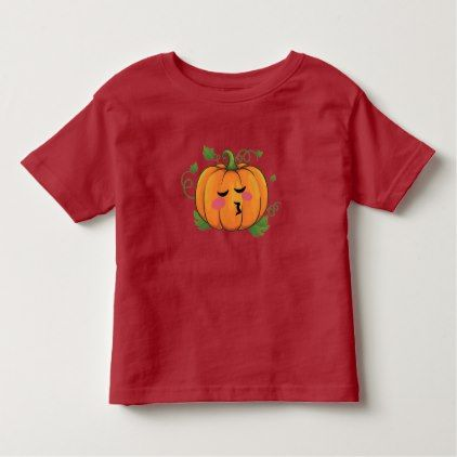 Pumpkin Kiss Emoji Thanksgiving Halloween Toddler T-shirt - thanksgiving day family holiday decor design idea