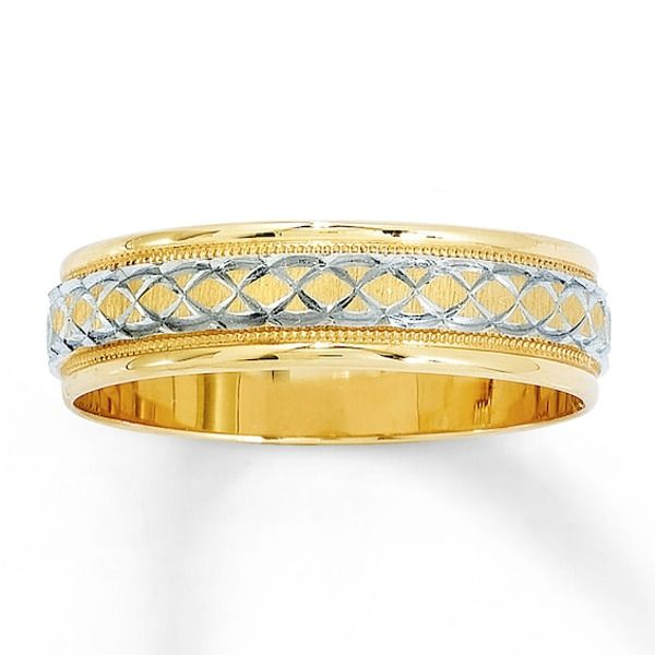 Wedding Band 14k Yellow Gold 6mm In 2020 14k Gold Wedding Ring Womens Wedding Bands Wedding Band Designs