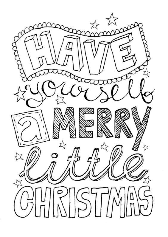 Kerstkaart handlettering zwart, verkrijgbaar bij #kaartje2go voor € 1,89