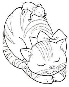 coloriage, broderie, patchwork, appliqué, gaufrage... que ferez-vous de ces deux amis gentiment endormis ?...
