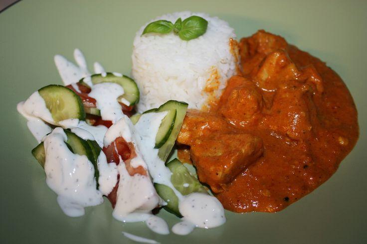 Tikka kyckling med Basmatiris & Raita – Indisk Yoghurtsås