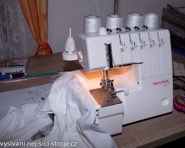 vše o coverlocku a overlocku - jaké mají stehy - druhy, na co jsou, podrobný postup šití trika na kombinovaném stroji cover -overlock - bezva