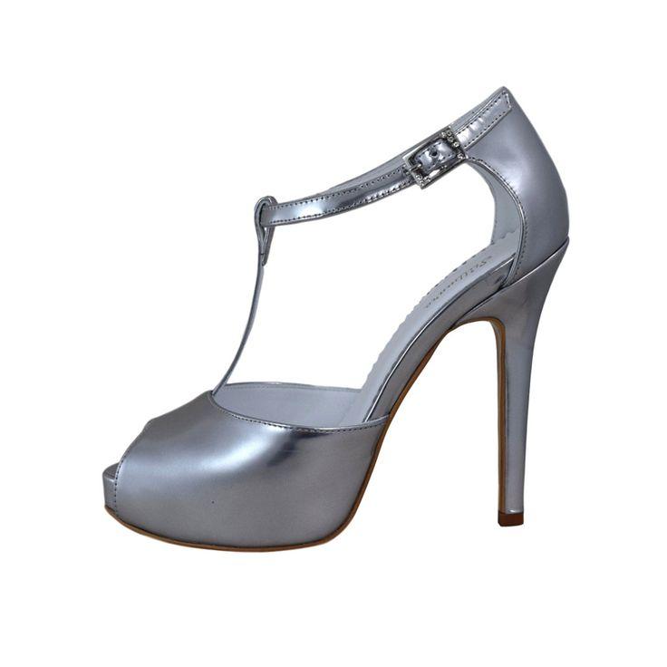 Sandale din piele oglinda