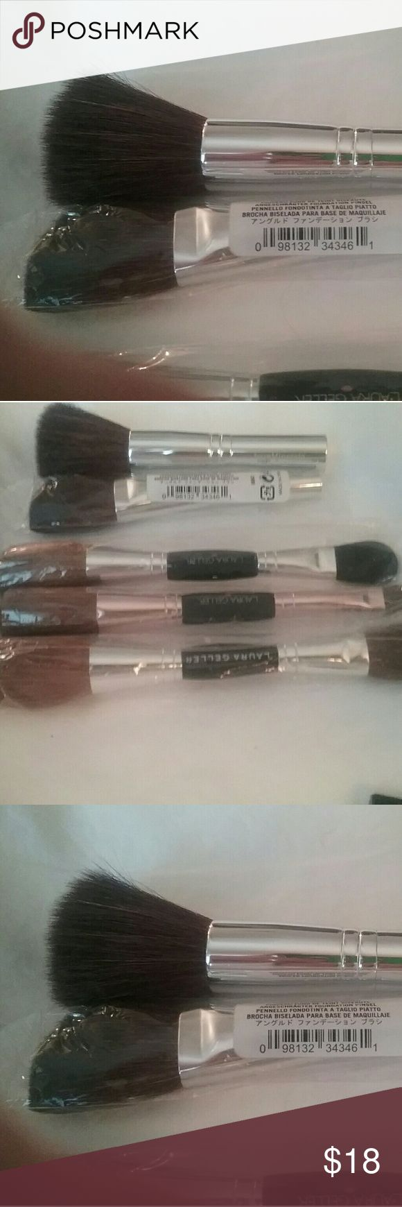 NWOT Bare Minerals Brushes SPRING SALE!! Two NWOT Bare Minerals Brushes. One is for foundation application,  the other is contouring brush. Purchased together  $ 14.0000 for the set. Purchased separately,  $8.00 each.  All reasonable offers welcome. NO LOWBALL OFFERS! Bare Minerals  Makeup Brushes & Tools