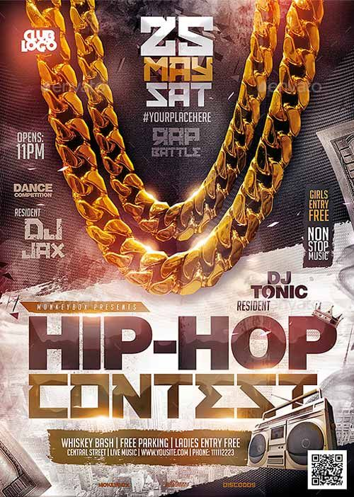 Hip-Hop Contest Flyer Template – ffflyer.com/… Enjoy downloading the Hip-Hop C…