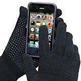 Evelots Ladies Smartphone Gloves Form Fitting & Warm, 2 Pair Black L/L