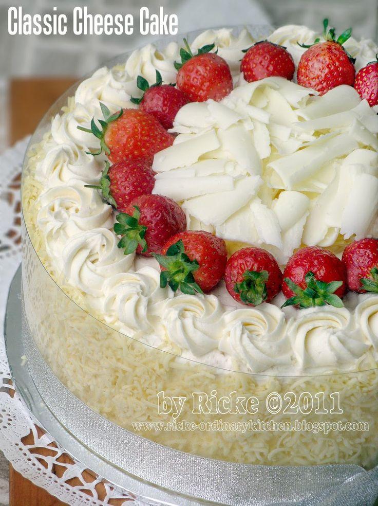 Just My Ordinary Kitchen...: CLASSIC CHEESY CAKE (CHEESE CAKE ALA INDONESIA)