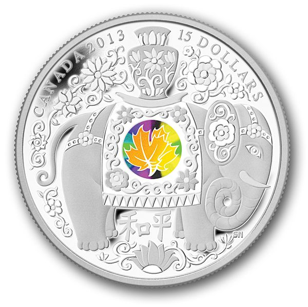 Canada Post - 2013 $15 Pure Silver Coin- Maple of Peace - From the Royal Canadian Mint