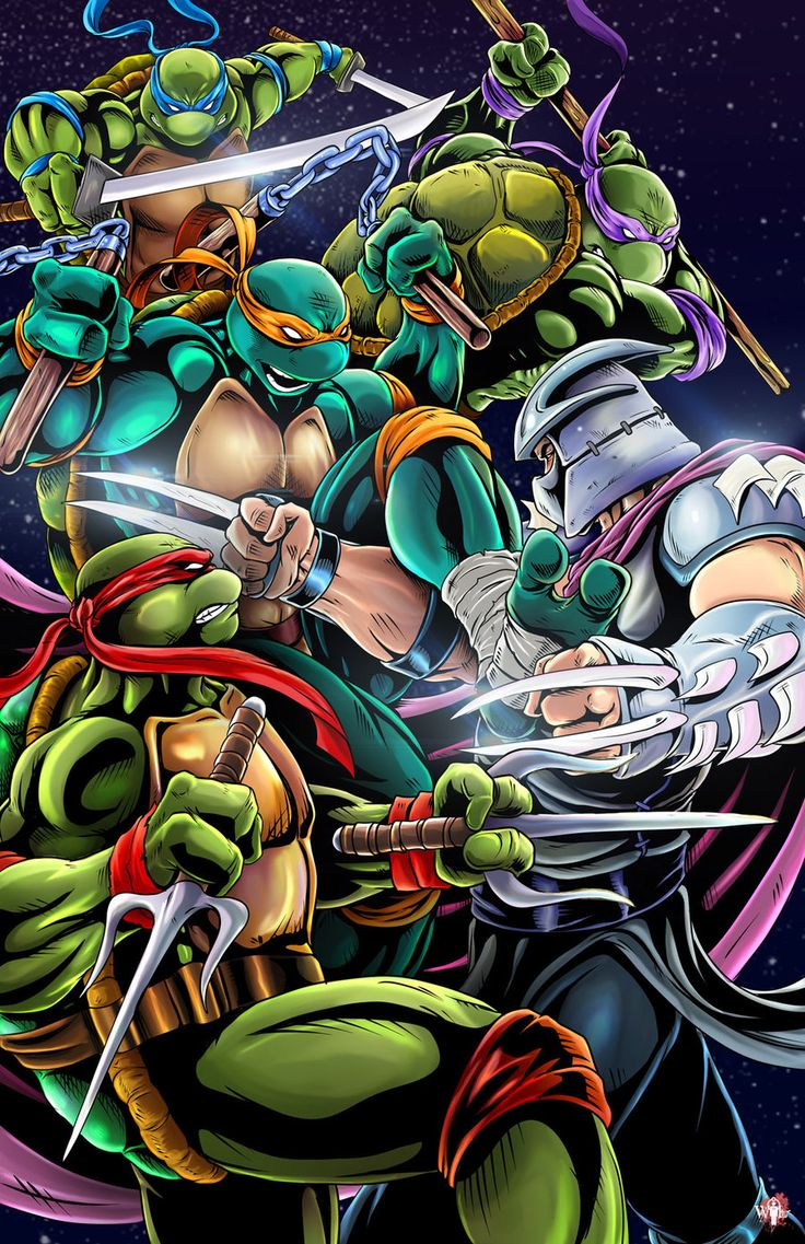 TMNT vs Shredder by Wil Woods