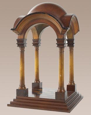 Renaissance Cupola Honey Wood Gazebo Architectural Model