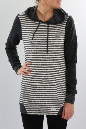 Volcom - Lived In Colourblock Pullover Black $59.99 Shop Via ll http://www.jeanjail.com.au/ladies/volcom-lived-in-colourblock-pullover-black.html