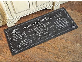 French Bistro Comfort Mat - Black - traditional - bath mats - by Ballard Designs