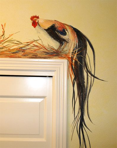 chickens painted in laundry room artist - Google Search