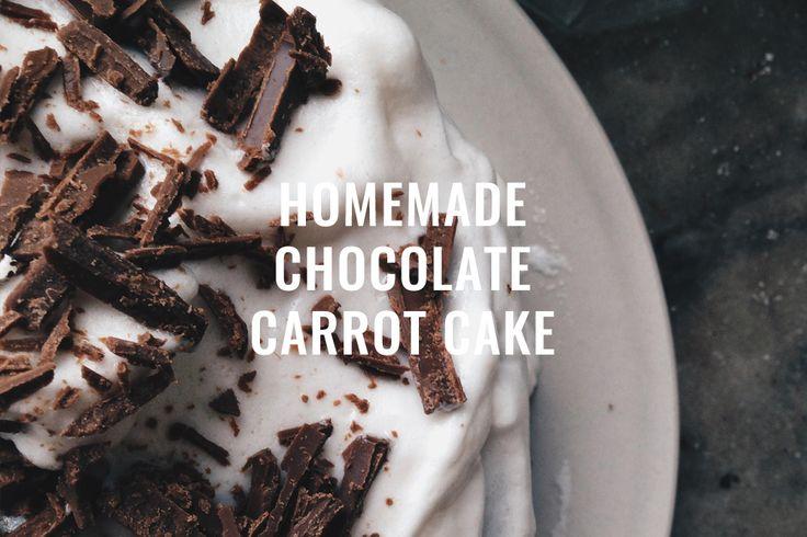 HOMEMADE CHOCOLATE CARROT CAKE