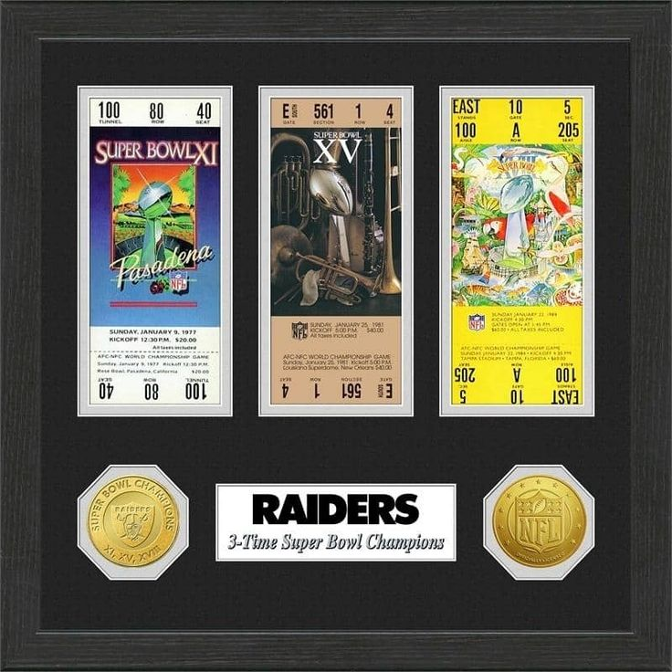 Highland Mint Oakland Raiders Super Bowl Ticket Collection -