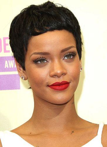 Rihanna, short haircut, pixie crop, pixie cut, hairstyle