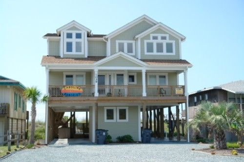 Holden Beach Nc Carolina Memories 1039 A 6 Bedroom Oceanfront Rental House In Holden Beach
