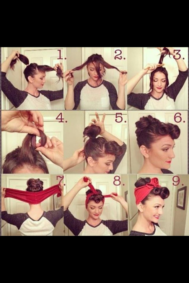 Hair style instructions from Pin Up