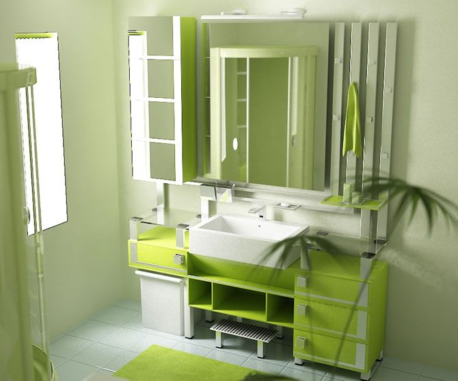 Small Green Bathroom Ideas Part - 31: Eco Friendly Stylish Green Bathrooms For Your Home