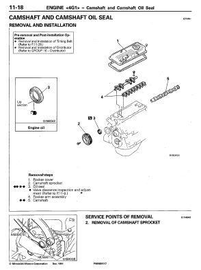 Mitsubishi 4GXX (4G13, 4G92, 4G93, 4D68) Engine Manual