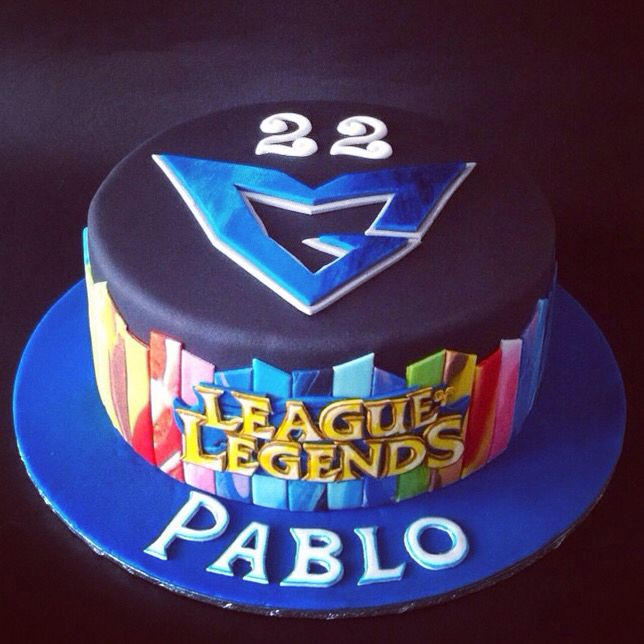 Samsung white, League of legends cake by Sanlicious