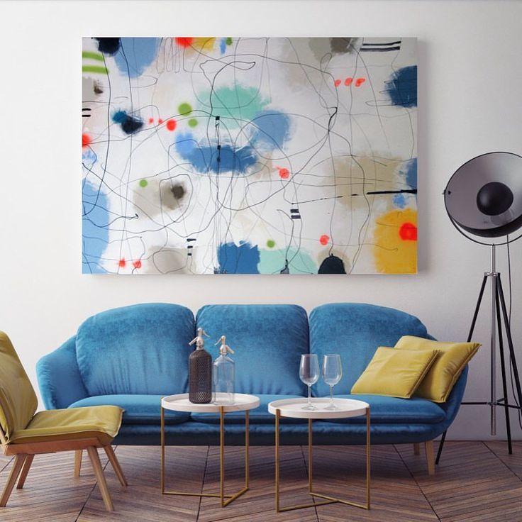 SWEET THING - Mål 100 X 140 CM akryl på lærred #abstrakt #abstraktekunst #stortmaleri #maleri #lerfeldtbjerker #bjerker #boligindretning #boligindretning #bolig #kunstpåvæggen #kunst #modernekunst