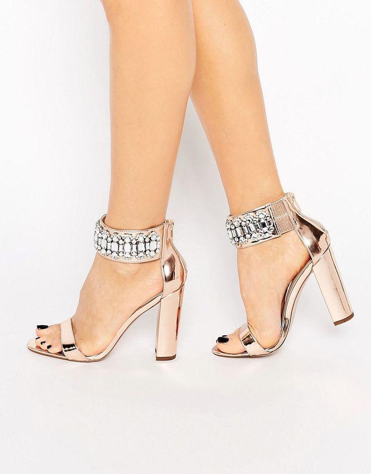 ASOS+HI+AND+LOW+Embellished+Heeled+Sandals