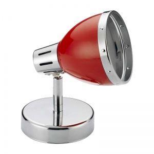 Spot luminaire chrome et rouge Cynthia: luminaire orientable design parfait pour toutes les pièces de votre intérieur...