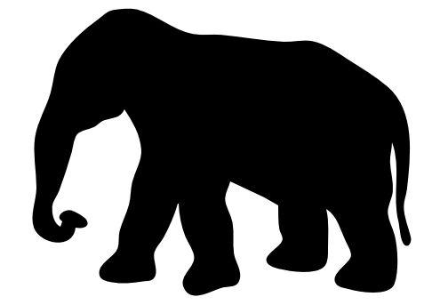 elephant contour