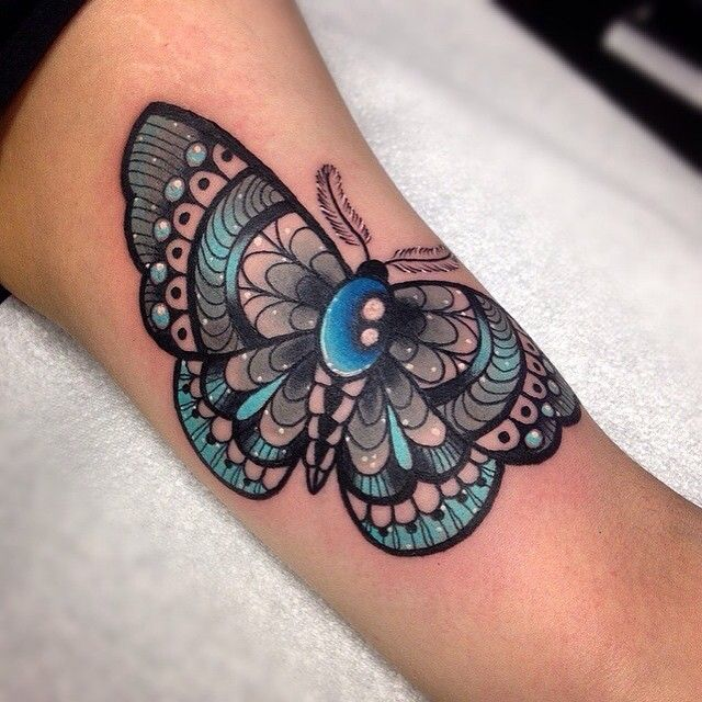 Moth tattoo  #moth #butterfly #tattoo #wlba ✨