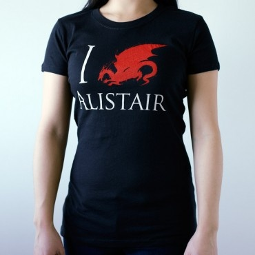 @ Caitlin Denae Davis, we need this!! The BioWare Store - Ladies I Love Alistair Tee - Dragon Age - Brands