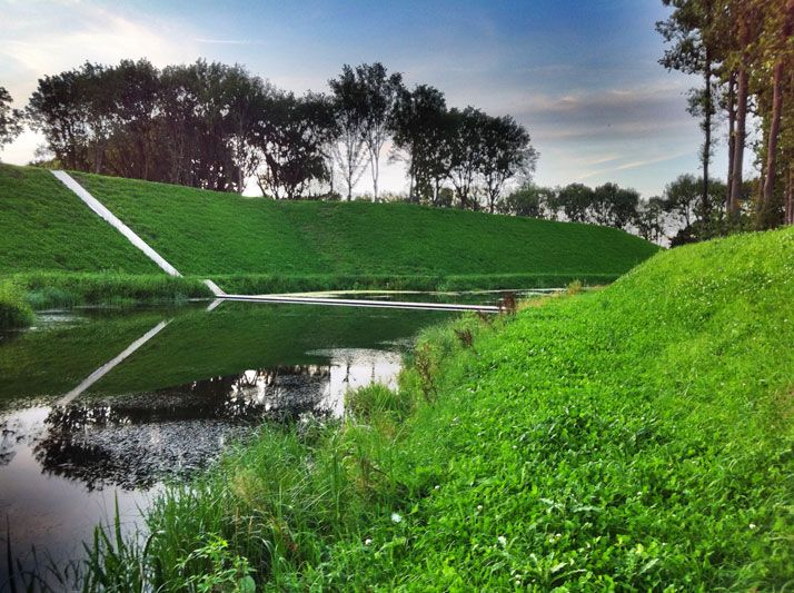The Invisible Bridge of RO Architects | YatzerInvi Bridges, Architects, Ro Ads Architecten, Sunken Bridges, The Netherlands, Ro Architecten, Architecture, Moses Bridges, Roads