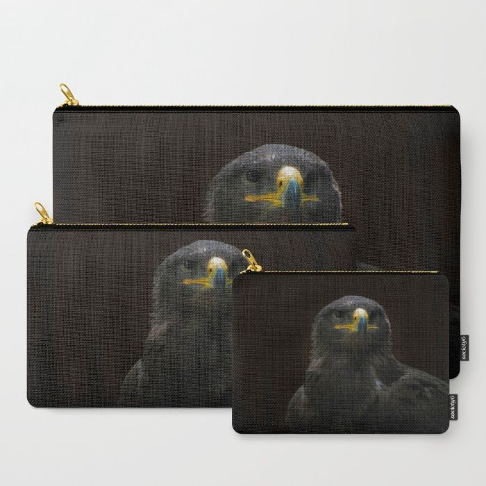 Steppe Eagle Carry-All Pouch by Mixed Imagery | Society6