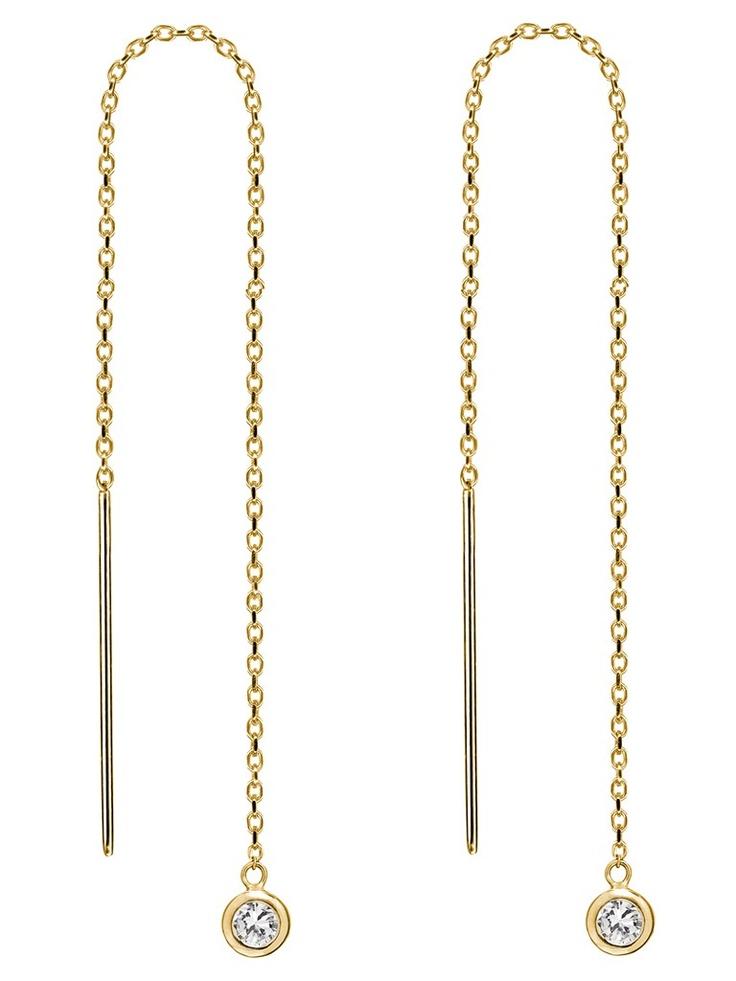 single thread earrings