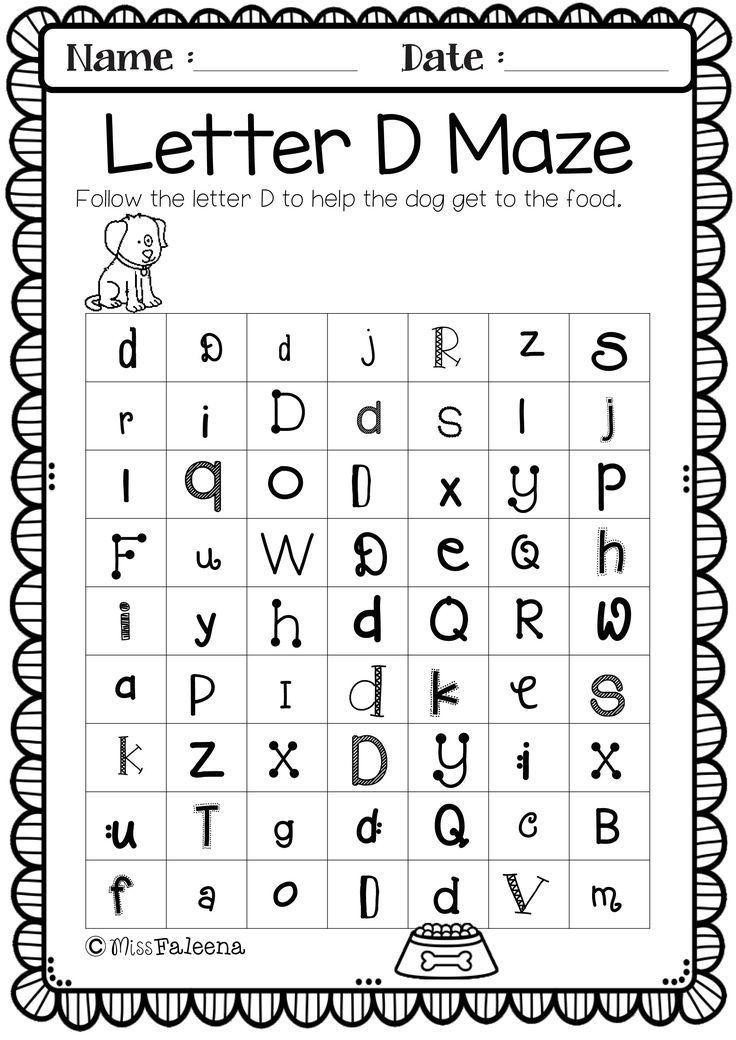 Alphabet Letter Of The Week D Alphabet Worksheets Preschool, Letter D  Worksheet, Alphabet Worksheets