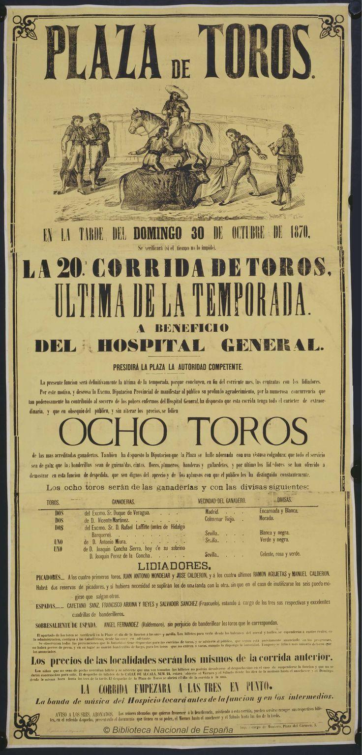 La 20ª corrida de toros. Plaza de Toros de Madrid — Dibujos, grabados y fotografías — 1870