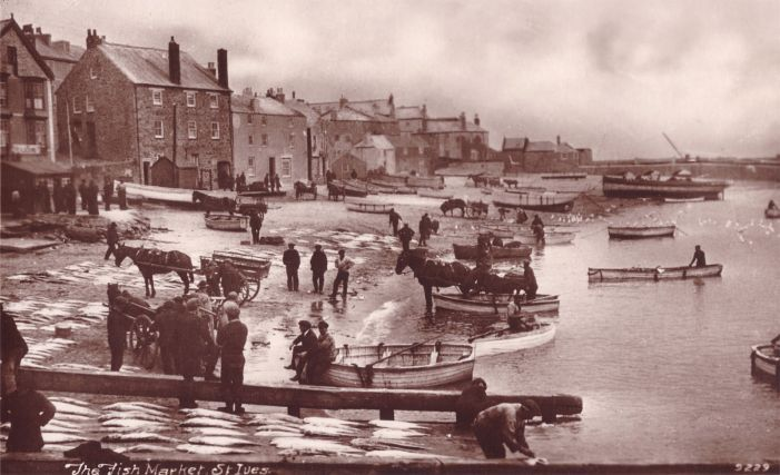 St Ives Harbour Beach in the old days