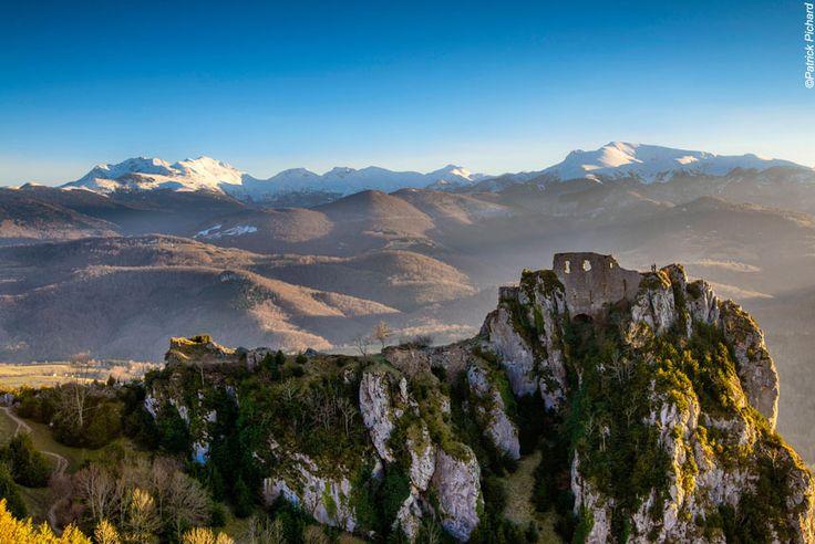Randonnée Châteaux du Pays Cathare en liberté   La Balaguère