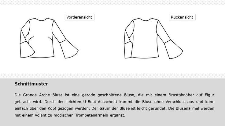 Nähanleitungen Mode - E-Book - Grande Arche Bluse Trompetenärmel - ein Designerstück von Sewionista bei DaWanda